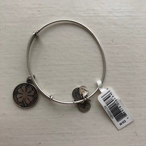 Alex and Ani Silver Expandable Four Leaf Clover